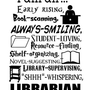 Librarian and Media Specialist - svg, pdf, png, dxf file