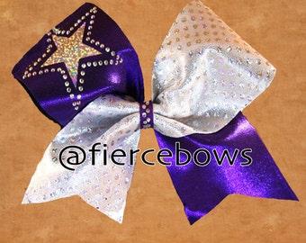 Shining Star Tick Tock Cheer Bow