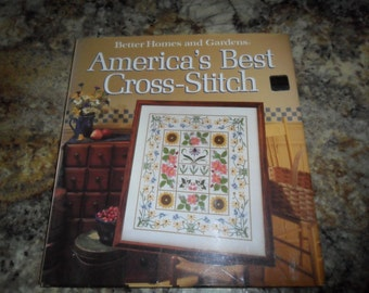 "Vintage 1987 Better HOmes and Gardens ""America's Best Cross-stich"" Hardcover book"