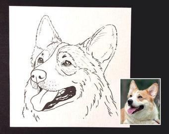 Custom pet portrait. Illustration. Your cat/dog/pet