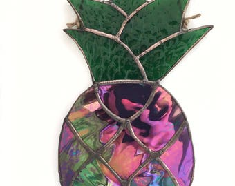 Purple Pineapple Stained Glass