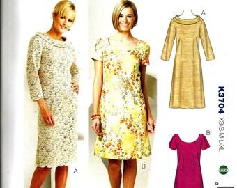 Kwik Sew 3704 size XS, S, M, L, XL womans dress