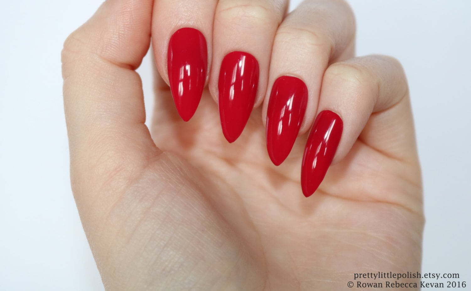 Red stiletto nails Halloween nails Fake nail Stiletto nail