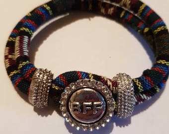 Snap button bracelet. Includes one snap button. BFF. NOOSA snap button jewelry