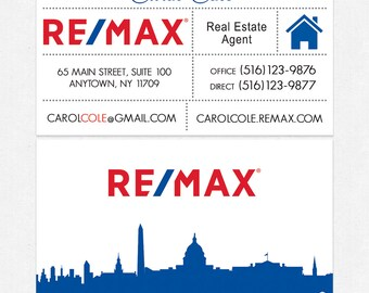Remax agent cards etsy no photo remax real estate business cards thick color both sides free ups reheart Choice Image