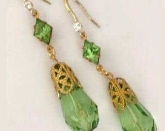 Art Nouveau Earrings Art Deco Earrings Edwardian Earrings Bridal Earrings