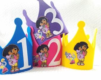 Dora The Explorer Party Hat - Dora and Boots Birthday Crown - Dora the Explorer Decorations