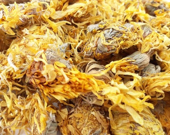 Dried Calendula, Marigold 250g Dried, Rabbit Treat, Reptile, Chinchilla, Tortoise Food Supplies, Degu, Guinea Pig, Hamster, Dried Flowers