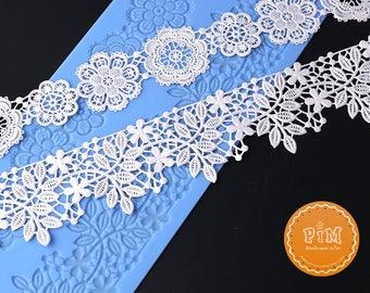Sugarcraft Flower silicone lace mold fondant mold cake decorating tools chocolate gumpaste mold wedding cake decoraton