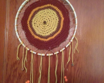 orange, yellow, brown and red dream catcher