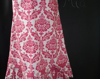 Ruffle A-line SKIRT - Bow Detail - Tanya Whelan - Damask - Made in ANY Size - Boutique Mia