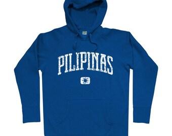 Pilipinas Hoodie - Men S M L XL 2x 3x - Philippines Hoody Sweatshirt - Filipino - 4 Colors