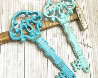 Antique Skeleton Key, Large Key Wall Decor, Rustic Home Decor, Antique Keys, Shabby Chic Wall Decor, Gallery Wall Decor, Key Wall Hanging