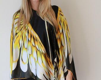 Wings Silk Poncho