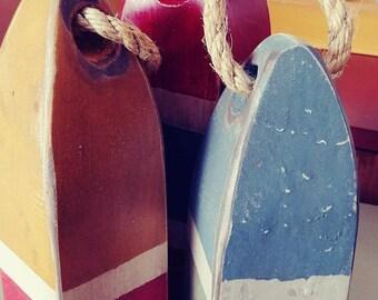 Vintage style decorative nautical decore, hand painted, buoys, nautical