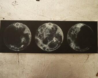 Triple Moon Painting