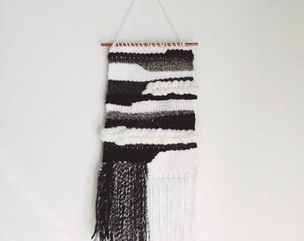 noir. a monochromatic tapestry weaving