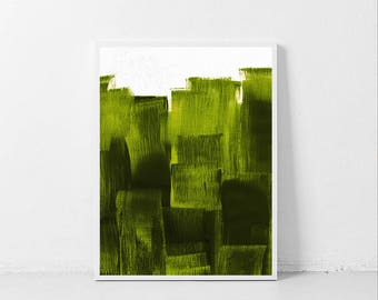 Printable Green Painting, Olive Green Print, Sage Green Painting Print, Light Green Wall Art, Printable Abstract Painting, Minimal Painting