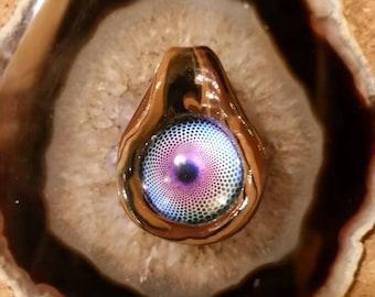 Glowing Fractal Vortex Pendant