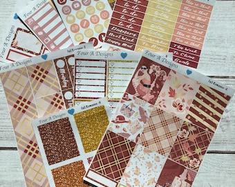 Fall Romance Weekly Kit/ Erin Condren Stickers/ Planner Stickers/ Fall Sticker Kit/ Fall Planner Stickers/ Planner Kit