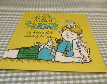 Vintage One Kitten For Kim Childrens Book By Adelaide Holl  Weekly Reader Book Club Hardback 1969