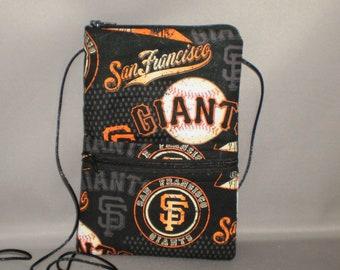San Francisco Giants - Smart Phone Purse - Passport Purse - Sling Bag - Hipster - Wallet on a String -  Baseball