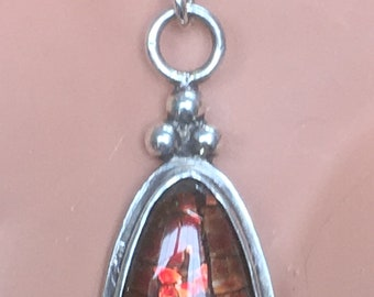 Two-Sided Ammolite Pendant