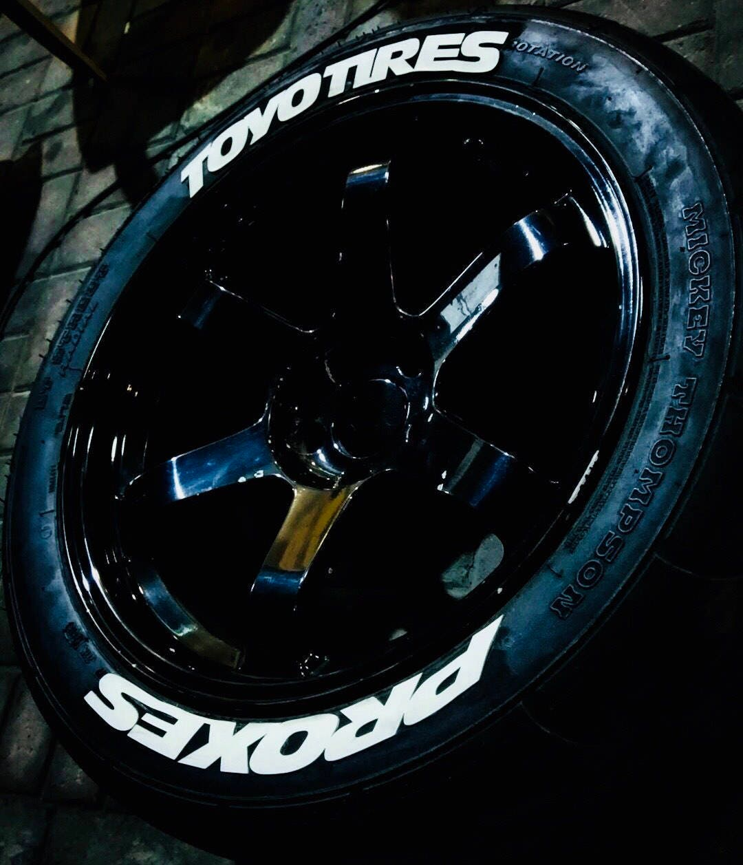 1.20'' toyo tires proxes rubber permanent tire letter
