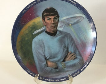 Vintage 1983 Hamilton Collection Mr Spock Star Trek Collector Plate # 1805