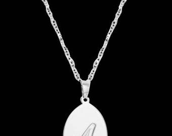 Personalized Letter Necklace - Engraved Necklace - Custom Letter Necklace - Silver Letter Necklace - Personalized Jewelry - Personalize Gift