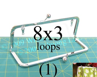8x3 nickel-free purse frame(TM) kisslock with loops
