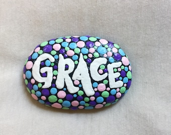 Hand-Painted 'Grace' Stone