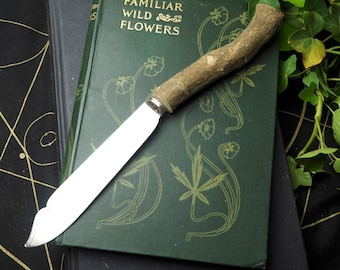 Ash Root Wood Athame  - upcycled vintage blade - Ritual Knife - Pagan, Wicca, Witchcraft, Magic