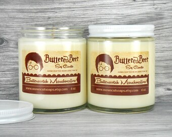Buttered Beer Soy Candle - The Boy Who Lived - Wizards Candle