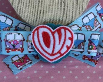 VW Bus Summer of Love Hair Bow