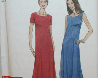 Misses' Dress - Sewing Pattern - Long Dress - Simplicity 9273 - New - Uncut - Size 8 - 10 - 12 - 14 - 16 - 18