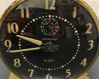 1940's White Harmony Place Clock