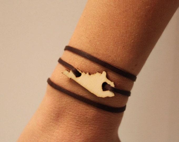 Kentucky Leather Wrap Bracelet