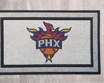 Arizona Phoenix Custom Combo Combined Logo MashUp Fan Sport Teams Door Mat Doormat Floor Heavy Duty