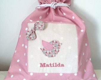 Personalised Bird Drawstring Bag