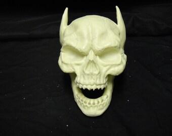 Glow in the dark bat skull.