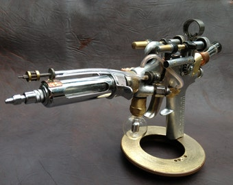 Ray Gun, Steampunk Weapon, Goth, Cosplay Costume Gun, Steampunk Gun, Photo Prop Gun, Steampunk Pistol, Found Object sculpture, Handmade