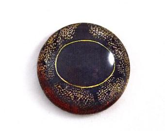 25mm Copper Frog Glass Eye Cabochon Fantasy Animal Jewelry or Doll Making or Taxidermy Crafting 1 inch
