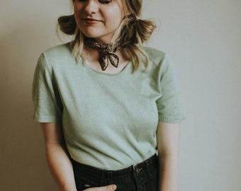 Mint Sweater Top