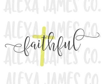 Faith Cross svg Faith Cross cut file faith cross clipart