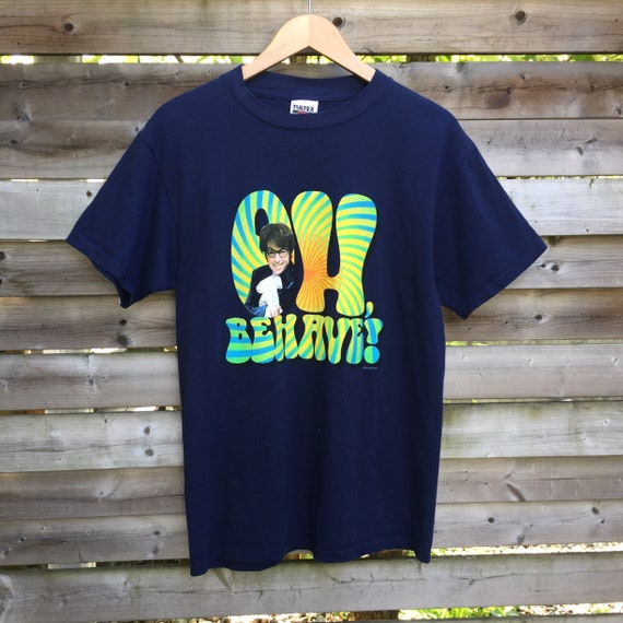 90s Austin Powers Oh, Behave! Vintage Movie T Shirt by Etsy