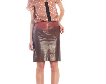 Leather ombré skirt by Cavalli // 90s // S size