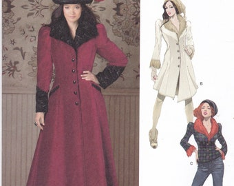 FREE US SHIP Simplicity Sewing Pattern 1732 ArkiVestry Steampunk Victorian Coat Jacket  Goth Costume Size 6 8 10 12 14 Bust 30 31 32 34 36