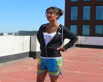 Womens Shorts African Short Shorts Wax Shorts Ankara Shorts Festival Shorts Hot Pants Print shorts Booty Shorts Knickers African Hotpants