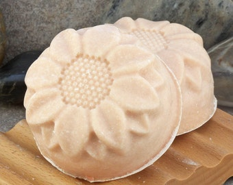 Lavender, Shea Butter, Pink Clay and Sea Salt Goat's Milk Soap Bar - Great for Oily Skin